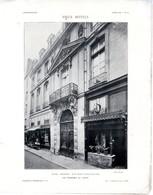 HOTEL CHENIZOT  RUE SAINT LOUIS EN L ILE  PARIS  VUE D ENSEMBLE DETAIL 2  PLANCHE ISSUE DE LA REVUE L ARCHITECTURE 1913 - Architecture