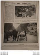 1908 AUTOMOBILE - COMPIÉGNE - LA COUPE DES VOITURETTES - SIZAIRE - F DE BAZELAIRE - MENARD ET SONVICO À PIERREFONDS - Livres, BD, Revues