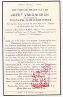 DP Jozef VanGrieken ° Koersel Beringen 1869 † Zolder 1944 X Philomena C. Moons - Devotieprenten
