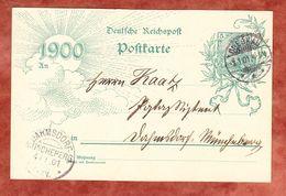 Jahrhundertkarte P 43 Germania, Drebkau Nach Dahmsdorf, KOS-Ankunftstempel 1901 (61610) - Deutschland