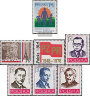 Poland 2582,2583,2597,2598-2601 (complete.issue.) Unmounted Mint / Never Hinged 1978 Korczak, Soldiers, PZPR, Workers - 1944-.... République