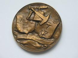 Médaille En BRONZE - Chambre Syndicale Des Entrepreneurs De Couverture Et Plomberie De PARIS   *** EN ACHAT IMMEDIAT  ** - Professionnels / De Société