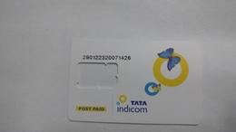 India-tata Indicom G.s.m. Card-(38c)-(g.s.m-mad)-(new Delhi)-(look Out Side)-used Card+1 Card Prepiad Free - Indien