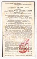 DP Jozef P. Van Ginderachter ° Merchtem 1865 † 1939 X A. De Keersmaeker / Fanfare Concordia - Devotieprenten