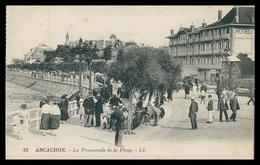 GIRONDE - ARCACHON - La Promenade De La Plage   (Ed.LL Nº 42 ) . Carte Postale - Arcachon