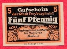 Allemagne 5 Pfenning Stadt Freyburg UNC N °2177 - [ 3] 1918-1933 : República De Weimar