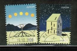 CEPT 2009 IS MI 1244-45 ICELAND USED - 2009