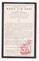 DP Maria Van Gorp ° Lichtaart Kasterlee 1856 † 1927 X Ludovicus A. Van Gorp - Devotieprenten