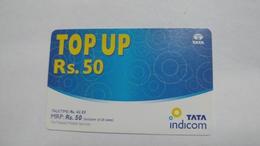 India-top Up-tata Indicom Card-(38e)-(rs.50)-(new Delhi)-(200407380120904)-used Card+1 Card Prepiad Free - India