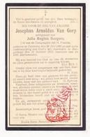 DP Josephus A. Van Gorp ° Kasterlee 1891 † Borgerhout 1923 X Julia R. Borgers - Devotieprenten