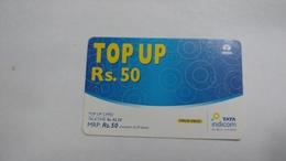 India-top Up-tata Indicom Card-(38f)-(rs.50)-(new Delhi)-(talk Time)-used Card+1 Card Prepiad Free - India