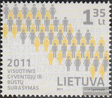 Lithuania 1056 (complete.issue.) Unmounted Mint / Never Hinged 2011 Census - Lithuania