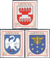 Lithuania 1031-1033 (complete.issue.) Unmounted Mint / Never Hinged 2010 Crest - Lithuania