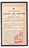 DP Justina Van Goethem ° Hamme 1859 † 1929 X Bonifacius Schoof - Images Religieuses