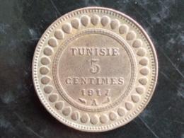 TUNISIE TRES TRES BELLE 5 CENTIMES 1917 A - Tunisie