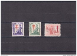 España Nº 1008 Al 1010 - 1931-50 Nuevos & Fijasellos