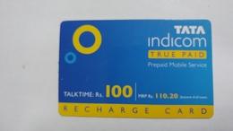 India-top Up-tata Indicom Card-(38j)-(rs.100)-(new Delhi)-(10/2007)-used Card+1 Card Prepiad Free - India