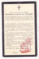 DP Wilhelmina A. Van Genugten ° Oirschot NL NB 1880 † 1931 - Devotieprenten