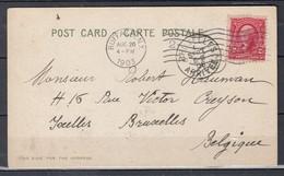 Postkaart Van Buffalo N.Y. Naar Bruxelles - Lettres & Documents