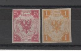 Allemagne _ Ville Libre De Luebeck (1859 ) N°2 Et 4 - Luebeck