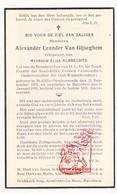 DP Alexander L. Van Gijseghem ° Sint-Gillis-bij-Dendermonde 1873 † Merchtem 1938 X E. Albrechts / Fanfare Concordia - Devotieprenten