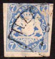 "Germany Bavaria Yv# 19a Used ""blue Prussian"" - Bavière"