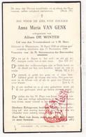 DP Anna M. Van Genk ° Nieuwmoer Kalmthout 1920 † 1939 X Alf. De Winter - Devotieprenten
