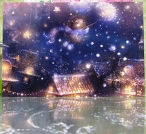 Hedgehog On A Dandelion Winter Night In Toy Town Fine Art Modern Russian Postcard By Polina Yakovleva - Other