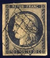 N° 3 Oblitéré, Cote Y&T 60 Euros - 1849-1850 Cérès