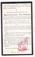 DP Maria F. Van Elslande ° Dadizele Moorslede 1856 † Wemmel 1932 - Devotieprenten