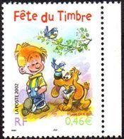 France Bandes Dessinées N° 3467 A ** Fête Du Timbre 2002 - Boule Et Bill - Bandes Dessinées