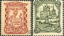 Russland (Dt.Bes.) - Pleskau 10x-11x (completa Edizione) Usato 1942 Francobolli - Occupazione 1938 – 45