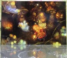 Fairy Mushrooms Magic World Fine Art Modern Russian Postcard By Polina Yakovleva - Mushrooms