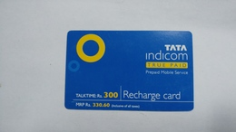 India-top Up-tata Indicom Card-(38p)-(rs.300)-(new Delhi)-(90day After)-used Card+1 Card Prepiad Free - India