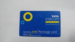 India-top Up-tata Indicom Card-(38q)-(rs.318)-(new Delhi)-(90day After)-used Card+1 Card Prepiad Free - India
