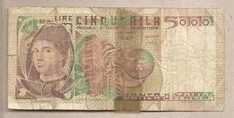 """Italia - Banconota Circolata Da 5000 Lire """"Antonello Da Messina"""" P-105a- 1979 - [ 2] 1946-… : Républic"""