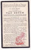 DP Leonia J. Van Deyck ° Aartselaar 1878 † 1920 X J. De Vries - Devotieprenten