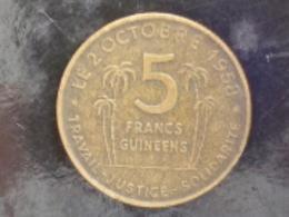GUINEE : 5 FRANCS GUINEENS 1959 - Guinea