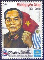 Used Uruguay 2013, Diplomatic Relations With Vietnam1V. - Uruguay