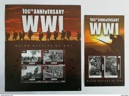 Liberia 2014** Klb.6425-28 + Bl.668. 100th Anniversary Of WWI MNH [15;143] - Guerre Mondiale (Première)