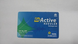 India-top Up-tata Indicom Card-(38v)-(rs.299)-(new Delhi)-(wrinkle)-(365day After)-used Card+1 Card Prepiad Free - India