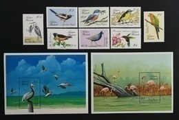 Antigua Barbuda 1988** Mi.1087-94 + Bl.133,134. Birds [19;50] - Birds