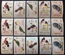 Bhutan 1968** Mi.248A-262A. Birds [20;71] - Birds