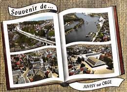 91 .  N° 200841  .  JUVISY SUR ORGE  .  SOUVENIR DE JUVISY SUR ORGE  .  CPSM . 14,5 X 10,5 - Juvisy-sur-Orge