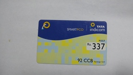 India-top Up-tata Indicom Card-(38x)-(rs.337)-(new Delhi)-(30day After)-used Card+1 Card Prepiad Free - India