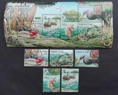 Tonga 2001** Mi.1595-99, Bl.40. Birds [21;129] - Birds
