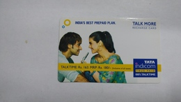 India-top Up-tata Indicom Card-(38y)-(rs.163-mrp Rs.180)-(new Delhi)-(4/2008)-used Card+1 Card Prepiad Free - India
