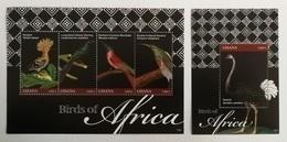 Ghana 2012** Klb.4115-18 + Bl.497. Birds [11;98/12;194] - Birds