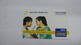 India-top Up-tata Indicom Card-(38z)-(rs.318-mrp Rs.356.90)-(new Delhi)-(6/2008)-used Card+1 Card Prepiad Free - India
