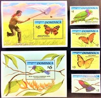 Dominica 1994** Mi.1808-11 + Bl.256, 257. Fauna [13;186] - Birds